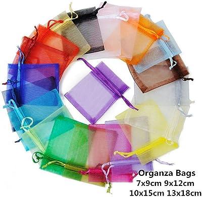 Amazon.com: 10 bolsas de organza de 7 x 9 9 3.5 x 4.7 in, 10 ...