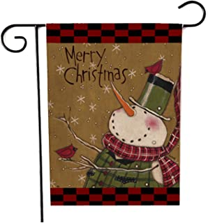 DD-life Christmas Garden Flag, Double-Sided Garden Flag for Holiday New Year Christmas Indoor Outdoor Yard Decor, 12x18 In...