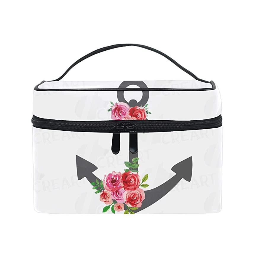 貯水池会社資金ポーチ化粧 かわいいAnchored Rose 大きめ 小物入れ おしゃれ 化粧ポーチ 小物入れ