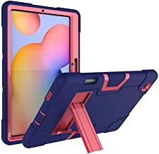 FanTing for Huawei MediaPad M6 Turbo 8.4 case,With bracket,all-inclusive design, three-layer ultra-thin shock-proof and durable Protective Case for Huawei MediaPad M6 Turbo 8.4-Navy Blue+Rose Red