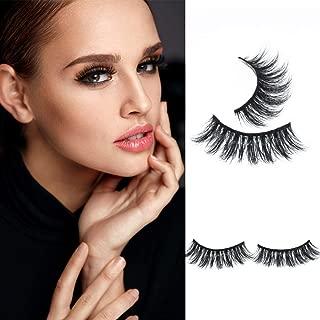 Mink 3D Lashes Eyelashes Long Lashes With Volume for Women's Make Up 100% Siberian Fur Fake Eyelashes Hand-made False Eyelashes 1 Pair Package (3DminkMY17)