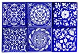 Item:- Ceramic Tile, Size : 4 X 4 Inch 10 x 10 CM, Set of 6 Tile Pack, Color : Blue & White, You will be make many design your Home Decor Material: Ceramic, Easy to Washable this Tile, You Can Decorate Your Home With Ceramic Wall Tiles, There Are Man...