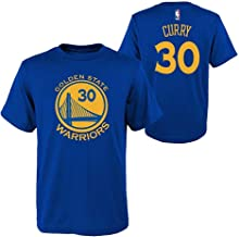 OuterStuff Stephen Curry Golden State Warriors NBA Boys Youth 8-20 Blue Official Player Name & Number T-Shirt (Youth Large 14-16)