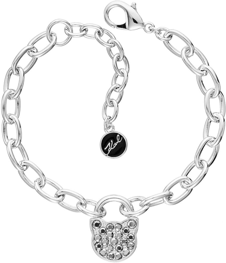 Karl lagerfeld,bracciale per donna,in acciaio inossidabile e cristalli Swaronsky 5512243