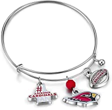 NFL Arizona Cardinals Three Charm Logo Bracelet