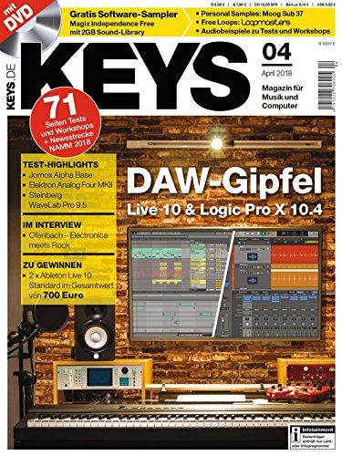 Keys Live 10 & Logic Pro X 10.4 / Magix Independence auf DVD / Free Samples