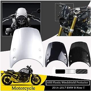 FATExpress for 2014 2015 2016 2017 BMW R Nine T R9T Motorcycle Accessories ABS Plastic Windshield Windscreen Wind Shield Screen Headlight Fairing 14-17 (Black)