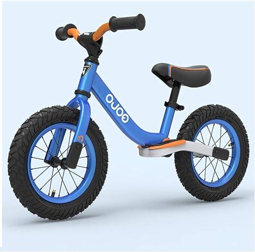 shuhong Kinder Laufrad Lauflernrad Kinderrad Ausgestattet Mit Schutzausrüstung Luftreifen Gestell Aus Kohlenstoffstahl 2-6 Jahre Alt,Blau