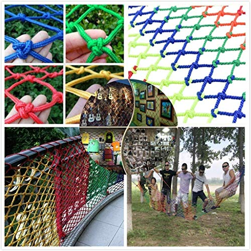 Child Safety Net, Protective Net (5CM Mesh, Color Net Rope), Suitable For: Terrace Staircase Staircase Window Garden