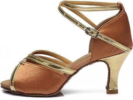 b478c7262 HIPPOSEUS Girls Women Latin Ballroom Dance Shoes Heel 5CM/7CM,Model WZSP805