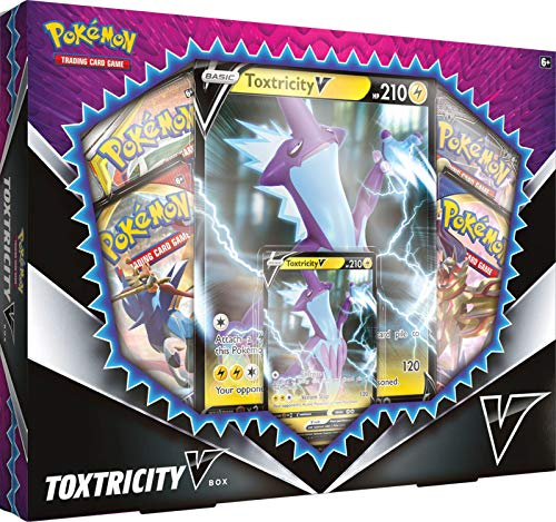 Pokemon TCG: Toxtricity V Box | 4 Booster Packs | an Oversize Foil Card | Genuine Cards, 820650806797, Multicolor