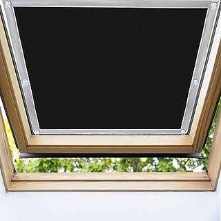 EXTSUD Cortina para Ventanas de Techo, Cortina contra Sol para Ventanas de Techo Cortinas Opacas Portátiles con Ventosas, 48 x 73cm
