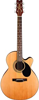 Jasmine by Takamine S34C NEX (Mini-Jumbo) Cutaway Acoustic Guitar With 16 Pick Sampler
