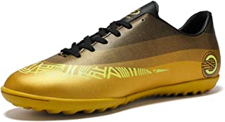 WOJIAO Mens and Kids Spring Outdoor Turf Football Training Boots Waterproof Soccer Sports Shoes