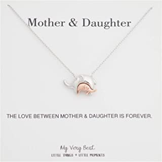 Baby in Mother's Embrace Elephant Necklace
