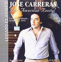 Jose Carreras: First American Recital; Carmel, CA, 14 October 1975
