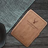 MOCA PU Leather Soft Flip Back Cover with Auto Wake/Sleep for Amazon Kindle Paperwhite (6-inch, Vintage Light Brown)