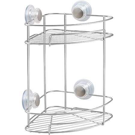 Nickel iDesign Turn-N-Lock 2-Tier Suction Shelf