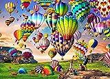HUADADA Puzzle 1000 Teile,Puzzle fr Erwachsene,Impossible Puzzle, Geschicklichkeitsspiel fr die ganze Familie - Bunter Heiluftballon - Erwachsenenpuzzle ab 14 Jahren.