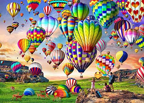 HUADADA Puzzle 1000 Piezas Globos Aerostáticos Puzzles Infantiles Puzzles para Adultos (70x50cm)