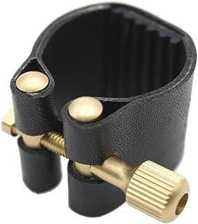 Altsaxophon Saxophon Mundstück Kappe PU Leder Blattschraube für Sax C4S5