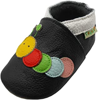 Sayoyo Baby Caterpillar Soft Sole Leather Infant Toddler Prewalker Shoes