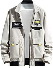 Landscap_Men Winter Full Zip Long Sleeve Casual Outwear Tops Windbreakers Loose Jacket
