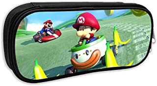 HHenry School/Office Pencil Case,Mario Kart Pencil Case,Canvas Pen Bag, Office Students Portable Pouch Bag with Zippers
