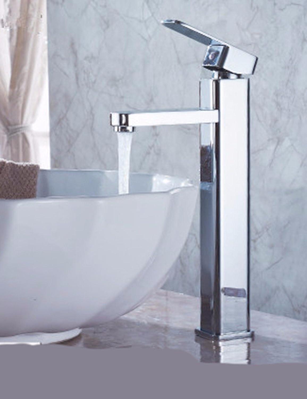 LHbox Die Kupfer- und Hohen Kalten Wasserhahn Einzigen Griff Einzelne Bohrung Waschbecken Wasserhahn Oberflche der Waschbecken Badezimmer Schrank Wasserhahn E
