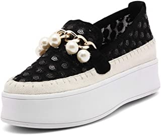 Fuxitoggo Los Tacos están Hechos de Zapatos pequeos de Grosor blancoo, los Zapatos de pie Huecos, Semillas de UVA, Hierba, (Color   Negro, tamao   38)