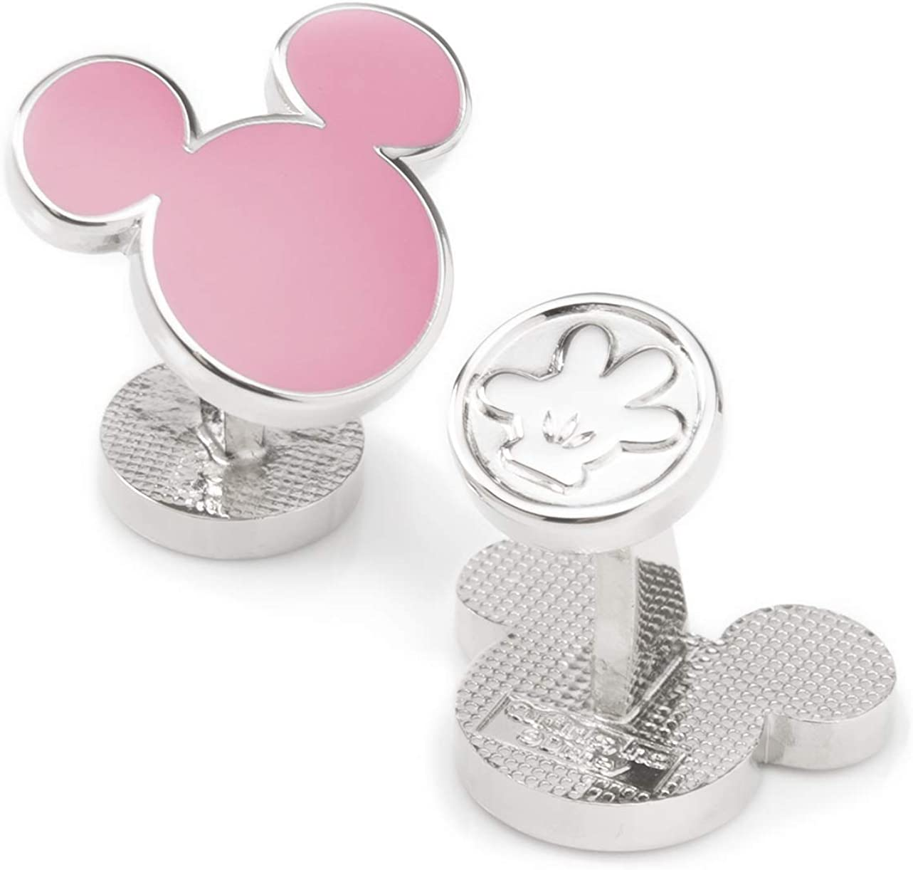 Mickey Mouse Silhouette Pink Cufflinks