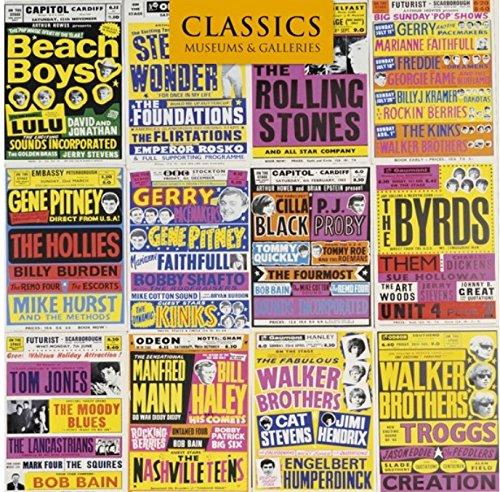 Museums and Galleries Marketing Classics 16cm x 16cm Eine Auswahl der British Concert Poster 1960er entworfen Grußkarte