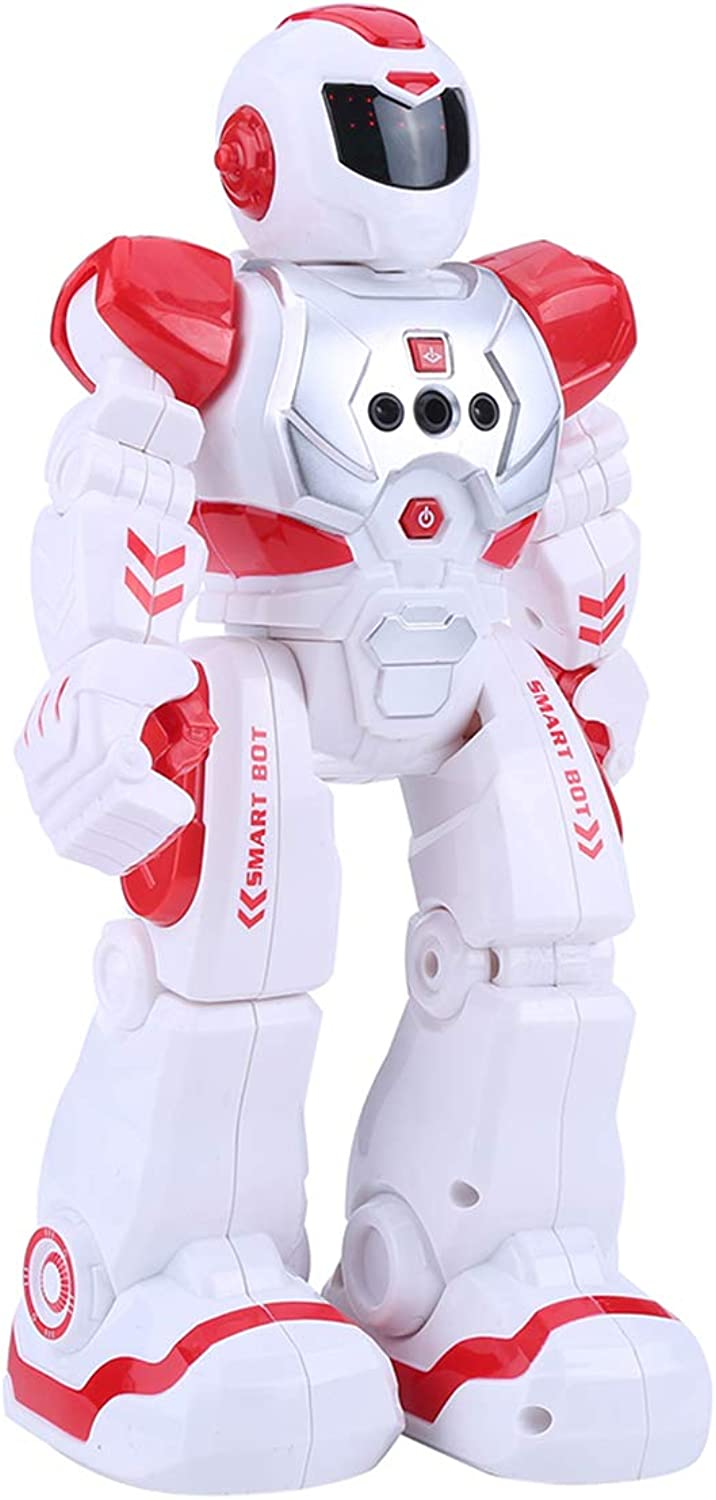 LSQR Smart Electric Remote Control Robots for Kids,Infrared Control Walking Robot Toys, Singing, Dancing and Gesture Sensin, Kids Gifts Intelligent Robotic Toys