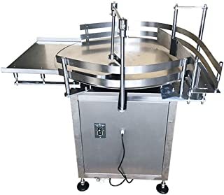 INTBUYING 31.5 inch Automatic Bottle Accumulation Table Bottle Turning Table Sorter Packing