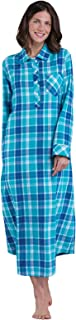 Women's Flannel Nightgown Plaid – Cotton Flannel Nightgown Womens