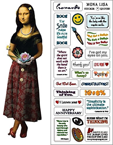 Mona Lisa Quotable Notable – Greeting Card With Sticker Quotes