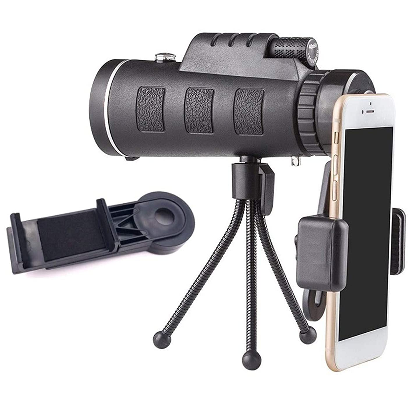 Phone Lens Zoom Len Mobile Phone Lens 40x60 Telescope Scope for iPhone X Samsung S9 Smartphone Camera Camping Hiking Fishing with Compass