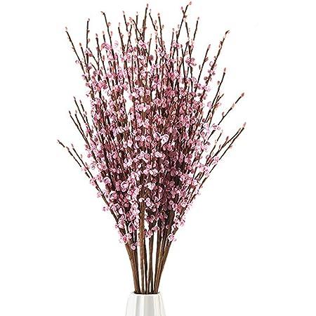 20 PCS Artificial DIY Floral Berry Rattans Wedding Party Bouquet Garland Wreath