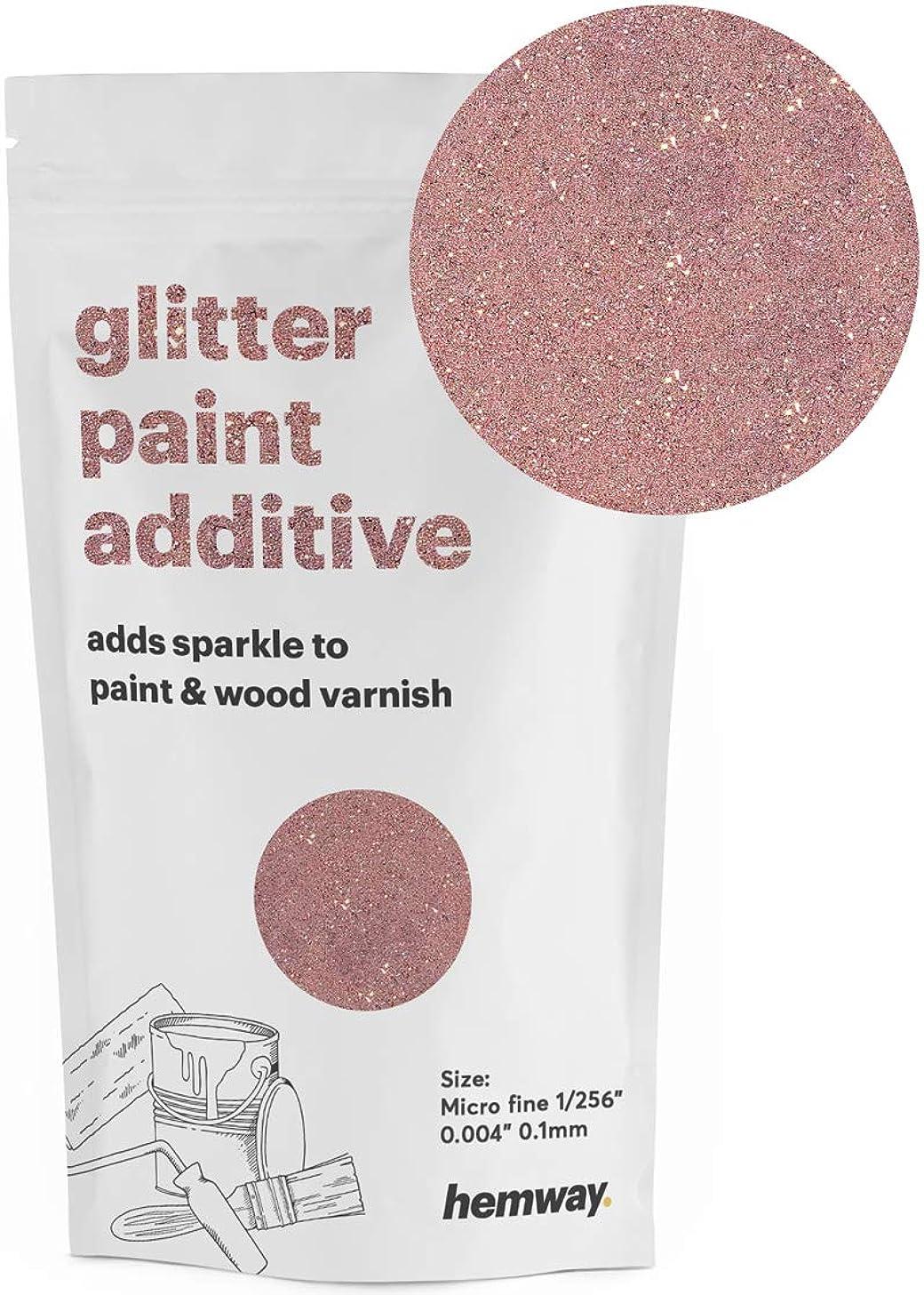 Hemway MICROFINE Glitter Paint Additive Emulsion Water Based Paints 100g (Rose Gold)
