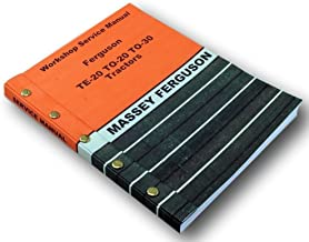 Harry Massey Ferguson To-30 To-20 Te-20 Tractor Service Repair Shop Manual 20 30