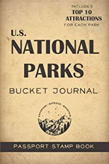 U.S. National Parks Bucket Journal: Record all your trips - Passport Stamps Book & Outdoor Adventure Log