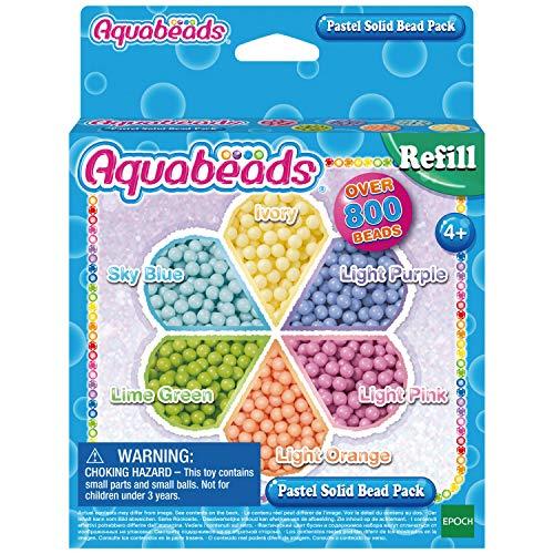 Aquabeads- Pack de Abalorios Pastel, Color carbón (Epoch 31360)