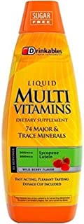 Drinkables Ultimate Liquid Multi Vitamins, Wild Berry, 33 Ounces (Pack of 2)