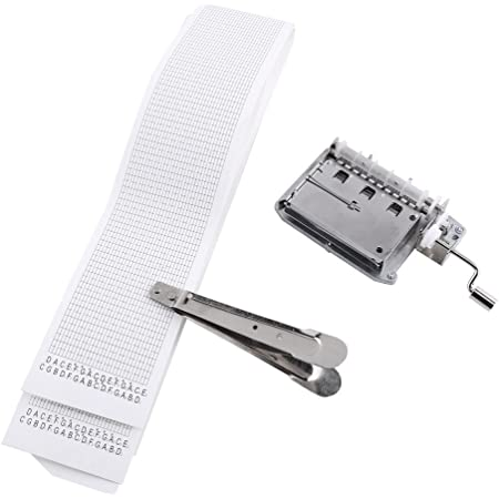 DIY Tune Hand Crank 15 Note Music Box Movement 20 Paper Tapes Hole Puncher