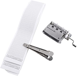 Yosoo 30 Note DIY Music Box Tune Hand Crank Music Box Set Movement Included Puncher and 3 Pcs Paper Strips