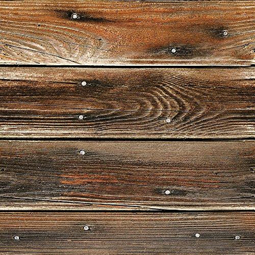 murando Papel Pintado autoadhesivo 10m Fotomurales Decoración de Pared Murales Pegatina decorativos adhesivos 3d panel moderna de Diseno Fotográfico Madera 1602-12