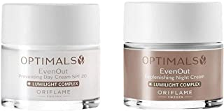 Oriflame Sweden Optimals Even Out Day & Night Cream (100 ml) (Pack of 2)