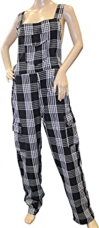 Shiva Romulus Funky Chequered Cotton Combat Dungarees - Nepalese Brightly Coloured Dungarees