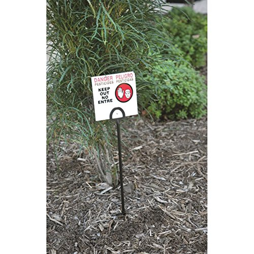 GEMPLER'S WPS Pesticide Warning Sign 5'H x 5'W with 16'L Black Stake,...