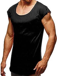 tシャツ メンズ 夏 カットソー 切りっぱなしデザイン 柔らかい 快適 Hanaturu(ハナツル) カジュアル 通勤通学 旅行 撮影 普段着 筋トレ フィットネス ノースリーブ スポーツウエア トップス